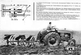"""¤¤  -  Carte Publicitaire Des Tracteurs """" SOMECA """"  - Simca Industries - Agriculteur -  ¤¤ - Tracteurs"""