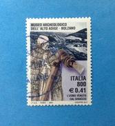 2001 ITALIA FRANCOBOLLO USATO STAMP USED - MUSEO ARCHEOLOGICO BOLZANO - - 6. 1946-.. Repubblica