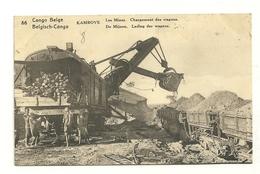 Kambove : Les Mines : Chargement Des Wagons Entier Postal 15 Ctimes Vert - Belgisch-Kongo - Sonstige