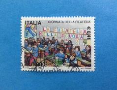2001 ITALIA FRANCOBOLLO USATO STAMP USED - GIORNATA DELLA FILATELIA - - 6. 1946-.. Repubblica