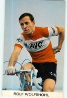 Rolf WOLFSHOHL . 2 Scans. Cyclisme. Bic - Cyclisme