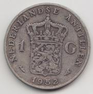 @Y@    Nederlandse Antillen   1 Gulden  1952 ( 4566 )  Zilver - Antilles Neérlandaises