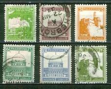 PALESTINE - Mandat Britannique - 1927 - Citadelle De Jérusalem - Tombeau De Rachel - Mosquée D'Omar - Palestine