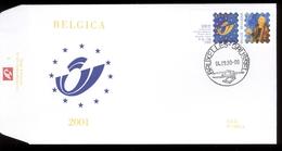 2000 - Fdc 1355A   - Obp 2932 - Belgica 2001 Met Vignetten - Cote Euro 3,00 - FDC