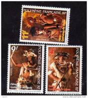 Polynésie N° 533 / 35 XX  Heiva , Costumes De Danse , Les 3 Valeurs Sans Charnière TB