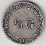 @Y@    Curacao  1/4 Gulden 1947  ( 4567 ) - Curaçao