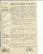 Timbre Fiscal  De  25c En 1933  ( Hypotheques Mr Pillet  Chambery A Mr Escoffier Adress A Mr Bouchet Charcutier Chambery - Revenue Stamps