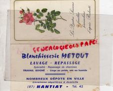87 - NANTIAT - PETIT CALENDRIER BLANCHISSERIE METOUT - 1968 - Calendriers
