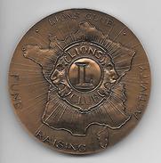 Médaille De Table Lions Club 1917-1992 Bronze - Non Classés