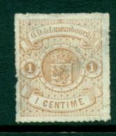Luxembourg - 1865 - 1 C Wapen Unused, No Gum, Spacefiller