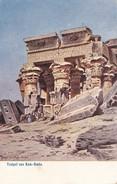 Tempel Von Kom-Ombo . Carte Ancienne Rare - Abu Simbel