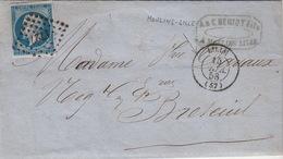 LETTRE.  13 FEV. 1858. NORD LILLE. BELLE FACTURE BERIOT FILS FABRIQUE DE VERNIS. ECRITE DE MOULINS-LILLE / 43 - 1849-1876: Periodo Classico