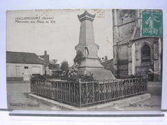 80 - HALLENCOURT - MONUMENT AUX MORTS - 1924 - France