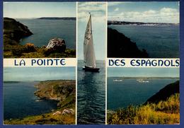 29 ROSCANVEL Pointe Des Espagnols, Les Falaises De La Pointe, Vues Vers Le Goulet Et Vers Brest ; Voilier 5 Vues - France