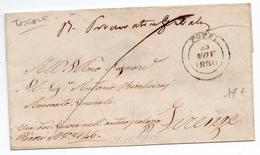 1850 - LETTRE De POPPI (TOSCANE)