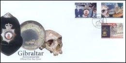 Gibraltar 2005 Set/3 Anniversaries Including Police, Museum -prehistoric  #1018-20 FDC - Gibraltar