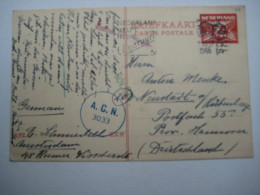 1946 , Zensur Karte  Nach Deutschland - Periode 1891-1948 (Wilhelmina)