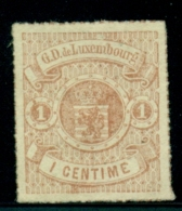Luxembourg - 1867 - 1c Wapen Unused, No Gum