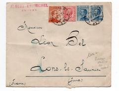 1922 - ENVELOPPE De SMYRNE (BUREAU ITALIEN AU LEVANT) Avec CACHET POSTA MILITARE Pour LONS LE SAUNIER (JURA) - Oficinas Europeas Y Asiáticas