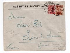1922 - ENVELOPPE De SMYRNE (BUREAU ITALIEN AU LEVANT) Avec CACHET POSTA MILITARE Pour LONS LE SAUNIER (JURA) - Uffici D'Europa E D'Asia