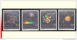 Liechtenstein 1298/1301** Sciences Exactes  MNH