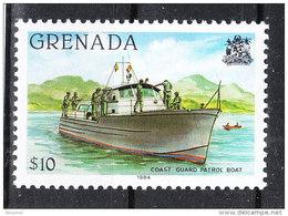 Grenada  -   1984.  Lancia Guardacoste.  Coast Guard Patrol Boat.  With Thousandths 1984. MNH, Rare! - Barche