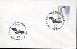 17924 ITALIA, Special Postmark 2002 Nervesa, Speleology ,showing A Bat,fledermaus, Chauve Souris