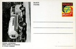 17933  Angola, Stationery Card With Bilhete Postal 1984 -truck Distributing Oil , Sonangol