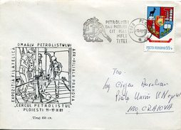 17934  Romania, Special Postmark 1981 Ploiesti Petroleum, Oil, Perforation