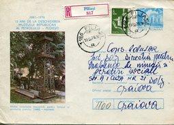 17937 Romania, Circuled Registered Stationery 1976 Oil Museum, Petroleum Musee