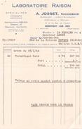 Facture Du 15 Fevrier 1944 Laboratoires Raison A Montfort Sur Meu - France
