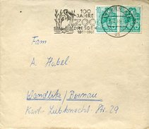 17939 Germany Ddr,  Circuled Cover 1961  100 Year Of The Zoo Of Dresden Showing A Pelicans, Pelikane,