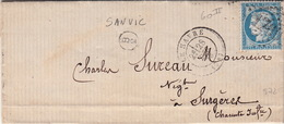 LETTRE.  28 DEC 73.   SEINE INFERIEURE  LE HAVRE.   BOITE RURALE : B/2   SANVIC    / 44 - Marcophilie (Lettres)