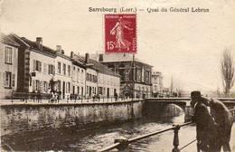 CPA - SARREBOURG (57) - Aspect Du Quai Du Général Lebrun En 1921 - Sarrebourg