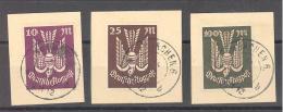 Reich  Michel  #  235 - 37  Auf Briefstücke Mit Stempel München - Gebruikt