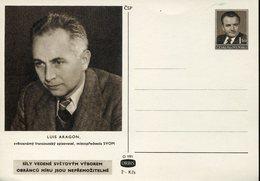 17946 Ceskoslovensko,  Stationery Card  1,50kc.  Luis Aragon