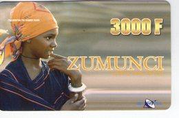 NIGER PREPAYEE PREPAID CARD ZUMUNCI SONITEL 2004 TRES RARE 3000 CFA  FILLE AFRICAINE AFRICAN GIRL RAGAZZA PEUL PEULH