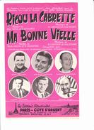 """Partition Accordéon: """"Ricou La Cabrette"""" """"Ma Bone Vieille"""" J. SEGUREL, M.LARCANGE, R.MONEDIERE, L.LANSADE, F. MARTINI, - Autres"""