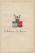Manuscrit Généalogie Héraldique De Robiano Le Brun Apparenté De Villegas Miraumont Limpens Le Roy De Ville Bournonville - Manuscrits