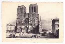 D 75 - ANCIEN PARIS - 126 - Le Parvis Et L'Eglise Notre-Dame Vers 1840 - France
