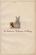 Manuscrit Généalogie Héraldique De Robiano De Namur D'Elzée De Stolberg App. De Ryckel De Quarré De Coppin ... - Manuscrits