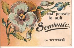 CARTE POSTALE ANCIENNE DE VITRE - SOUVENIRS - Vitre
