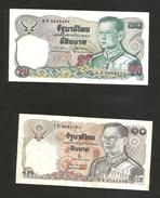 THAILAND / TAILANDIA - 20 BAHT & 10 BAHT / RAMA IX - Lot Of 2 Different Banknotes - Tailandia