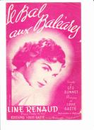 """Partition: """"Le Bal Aux Baléares""""  Avec Paroles. Line RENAUD, Géo BONNET, Louis GASTE, Miguel AMADOR - Autres"""