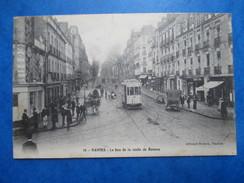 LOIRE ATLANTIQUE   44    NANTES  -  LE BAS DE LA ROUTE DE RENNES   -   TRAMWAY     TRES  ANIME   TTB - Nantes