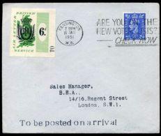 1951 6d BAE AIR LETTER SERVICE KGVI 2½d Glasgow To Kensington/London' - 1902-1951 (Kings)