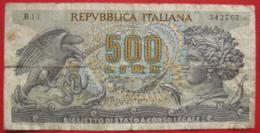 500 Lire 20.6.1966 (WPM 93a) - [ 2] 1946-… : Repubblica