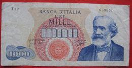 1000 Lire 1962 (WPM 96b) Ausgabe 1964 - 1000 Lire