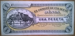 Espagne - 1 Peseta (Billet De Nécessité - Ville De Denia - 26/09/1936) - SUP - España