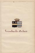 Manuscrit Généalogie Héraldique Errembault Comte De Dudzeele Dubois App. Ayasasa Le Vaillant Pontus Dubret ... - Manuscripts